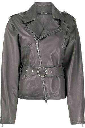 Maison Margiela Belted leather jacket