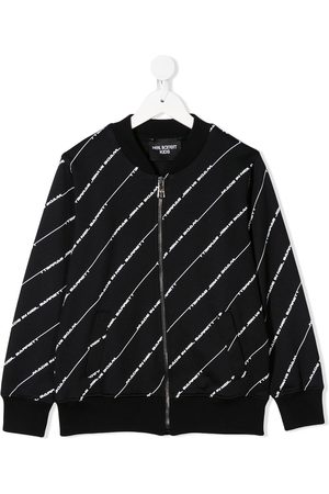 Neil Barrett Diagonal logo stripe bomber jacket