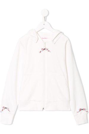 Familiar Long sleeve bow detail hoodie