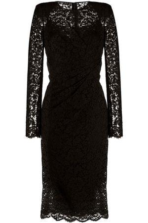 Dolce & Gabbana Ruched lace midi dress