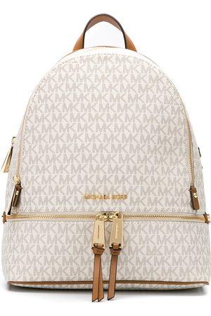Michael Kors Medium Rhea logo-print backpack
