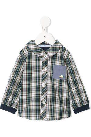 Familiar Check patch-pocket shirt