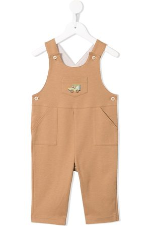 Familiar Truck embroidered dungarees