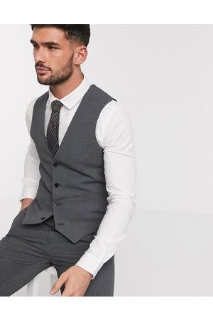 ASOS Super skinny suit waistcoat in four way stretch in charcoal