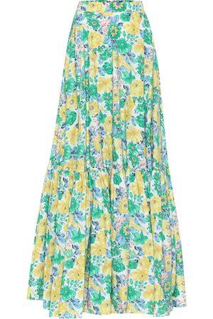 Plan C Floral cotton maxi skirt