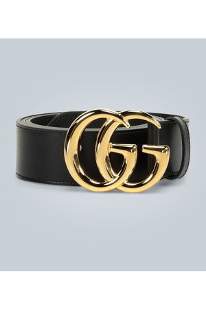 Gucci Men Belts - GG Marmont leather belt