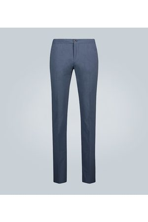 Incotex Slim-fit checked cotton pants