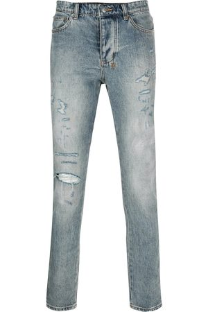 KSUBI Denim distressed straight leg jeans