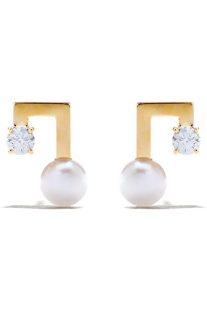 Tasaki Petit balance note earrings