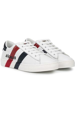 Moncler Double stripe lace-up sneakers