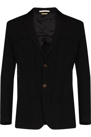 Comme des Garçons Pintucked single-breasted blazer