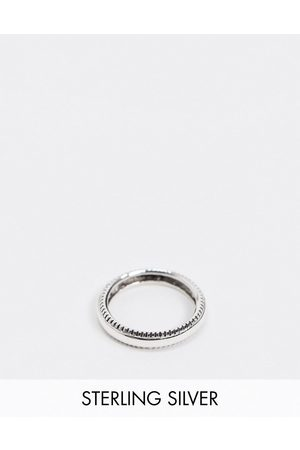 ASOS Sterling band ring with textured edge
