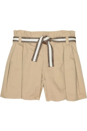 Brunello Cucinelli Belted stretch-cotton shorts