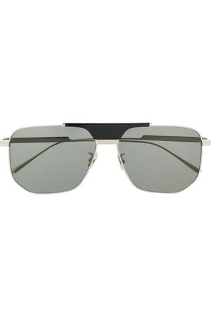 Bottega Veneta Geometric aviator-frame sunglasses