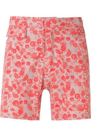 AMIR SLAMA Floral tactel shorts