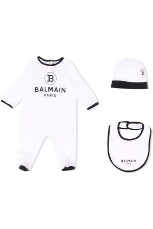 Balmain Logo babygrow set