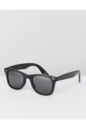 ASOS Men Sunglasses - Square sunglasses in plastic with smoke lens