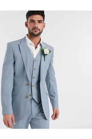 ASOS Men Blazers - Wedding skinny suit jacket in crosshatch in soft