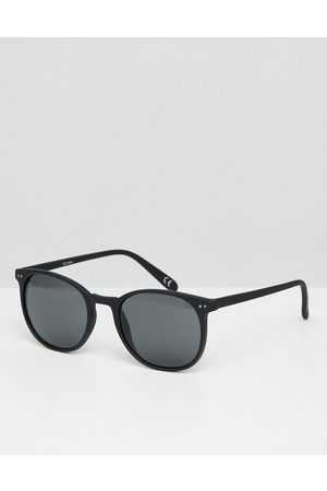ASOS Square sunglasses in matte plastic with smoke lens