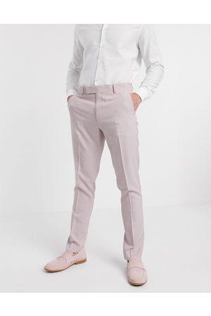 ASOS Men Skinny Pants - Wedding skinny suit trousers in crosshatch in rose