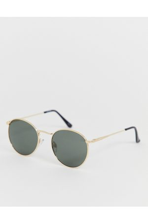 ASOS Round sunglasses in metal with smoke lens