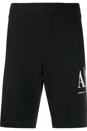 Armani Logo-embroidered track shorts