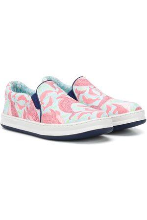 Camper Kids Wale-print slip-on sneakers