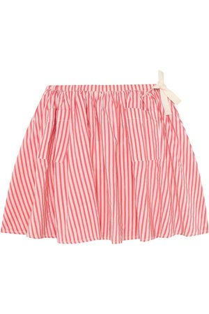 Caramel Norton striped stretch-cotton skirt