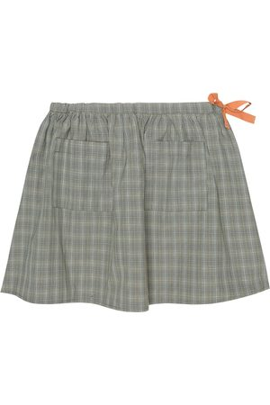 Caramel Norton cotton-blend skirt