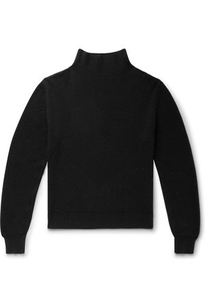 The Row Men Jumpers - Daniel Ribbed Cashmere Mock-neck Sweater
