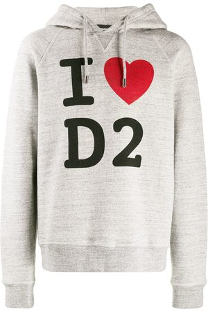 Dsquared2 Men Hoodies - I Love D2 printed hoodie