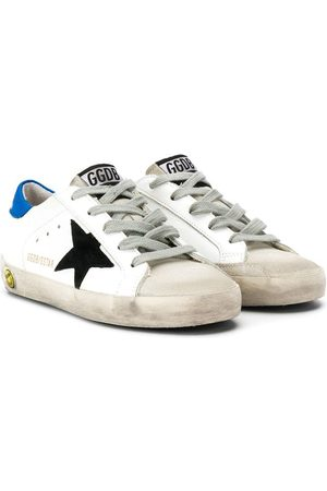 Golden Goose Star print lace up sneakers
