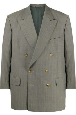 Burberry Men Blazers - 1990s double-breasted jacket