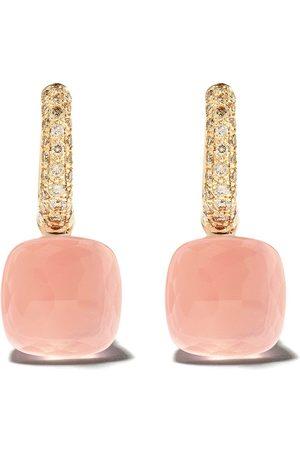 Pomellato 18kt rose gold quartz stone earrings