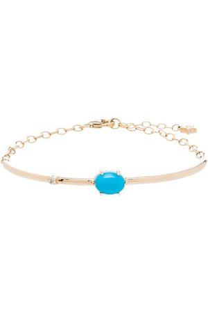 Andrea Fohrman 14kt yellow turquoise diamond bracelet