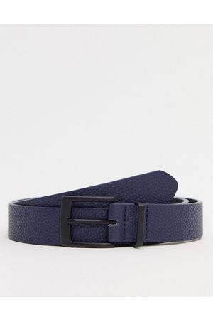 ASOS Men Belts - Slim belt in faux leather with matte black buckle