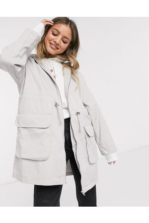 ASOS Lightweight parka in washed grey