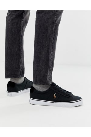 Polo Ralph Lauren Sayer canvas trainer with multi polo player in