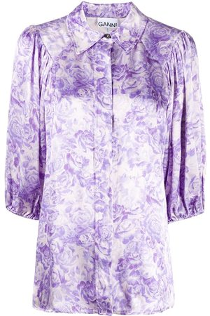 Ganni Heavy satin shirt