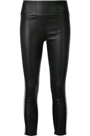 SPRWMN Striped stretch leather trousers