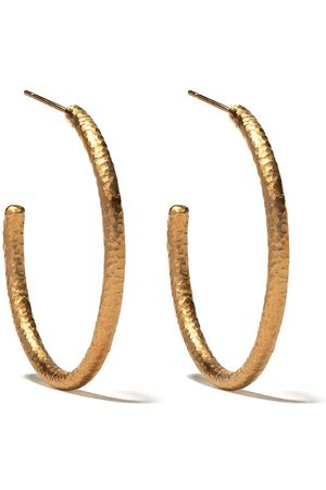 ANNOUSHKA 18kt yellow gold Organza hoop earrings