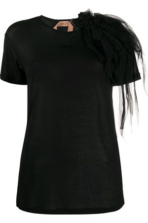 Nº21 Corsage shoulder detail T-shirt