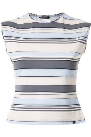 CHANEL Women Tank Tops - Striped sleeveless vest