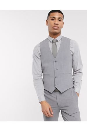 ASOS Super skinny suit waistcoat in four way stretch in mid