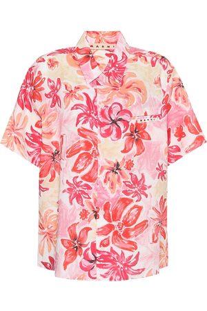 Marni Floral ramie shirt