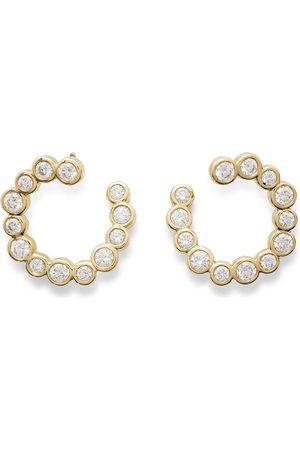Ippolita 18kt yellow diamond hoops
