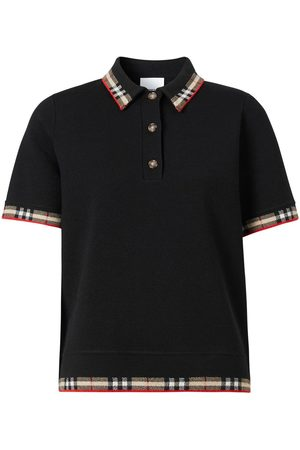 Burberry Check trim short-sleeve polo shirt