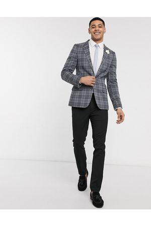 ASOS Wedding super skinny check blazer in