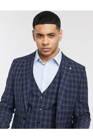 River Island Slim fit suit jacket in check