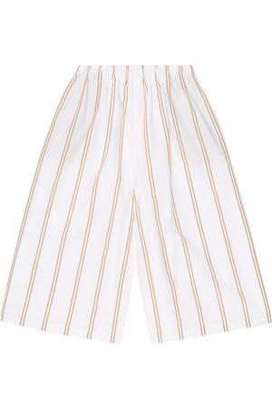 Brunello Cucinelli Striped cotton culottes